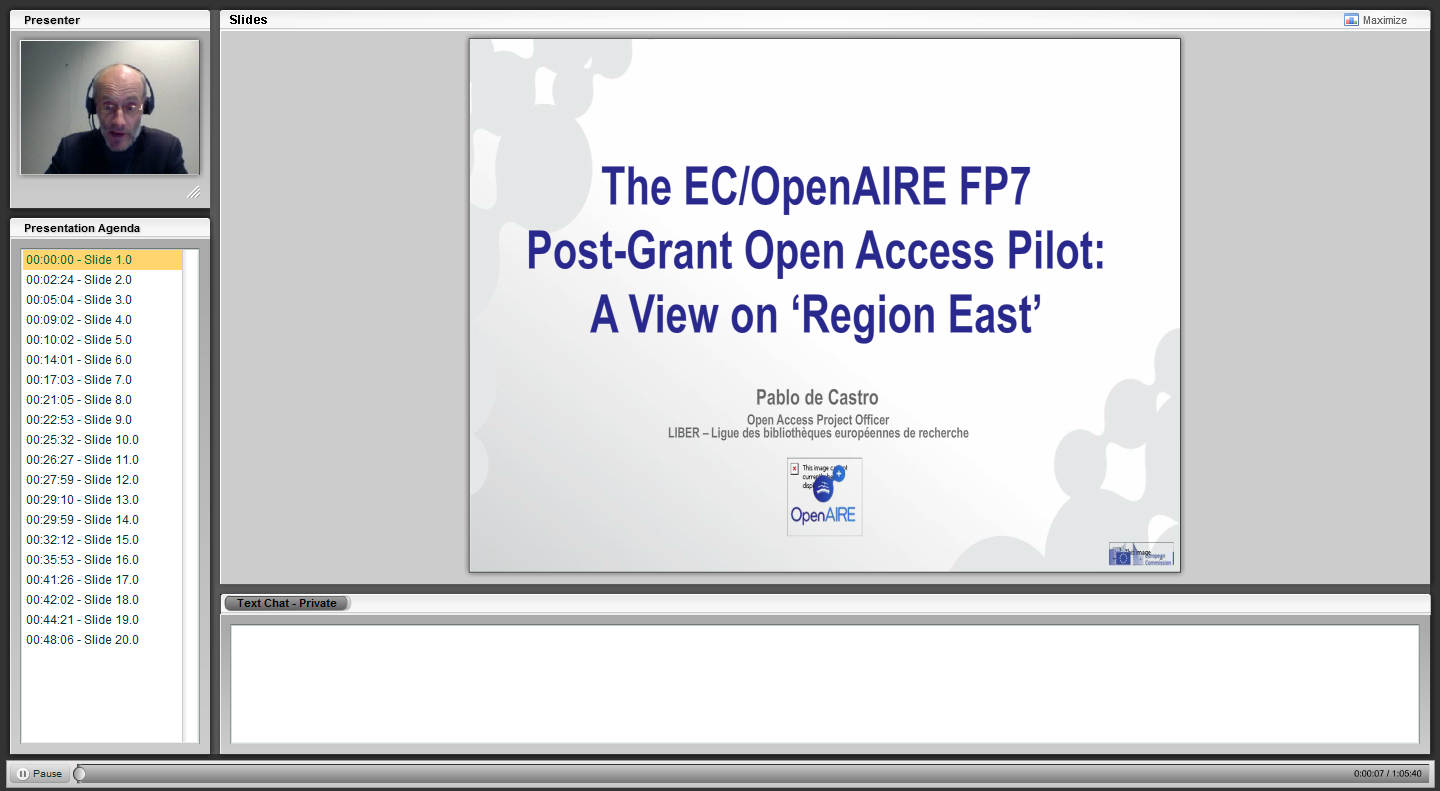 webinar fp7 postgrant open access pilot a view on region east