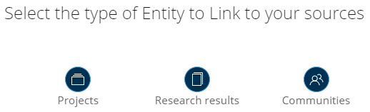 link select type of entity to link