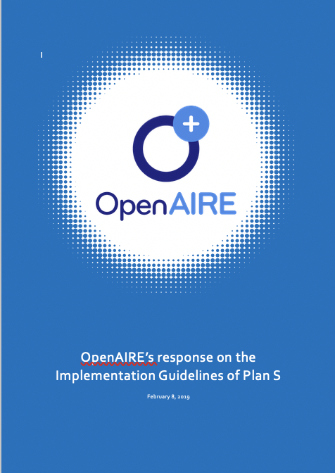 OpenAIRE response PlanS Guidelines