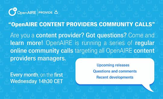 provide community calls2