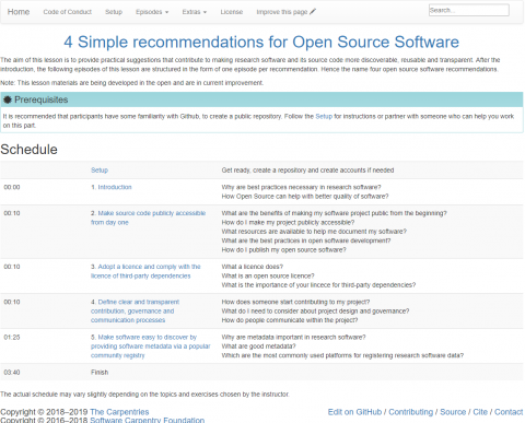 Software and Open Science: knowing the best practices