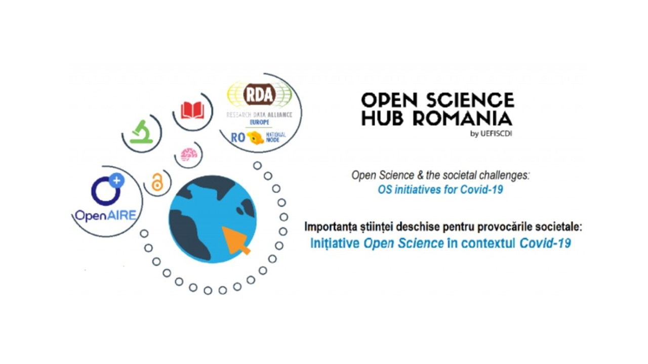 The Importance of Open Science for the Societal Challenges - OS & Covid-19: discussion with the Romanian community Webinar, April 14, 2020