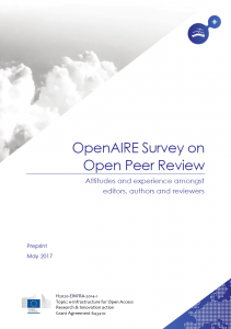 OpenAIRE survey: open peer review is moving mainstream