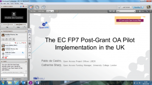 Webinar on the FP7 Post-Grant OA Pilot Implementation in the UK