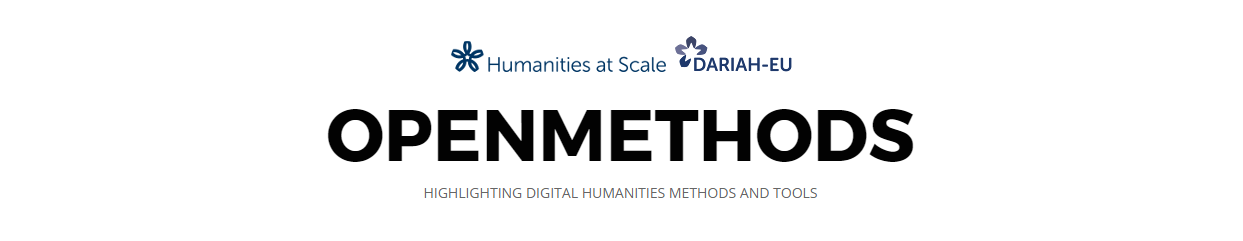 OpenMethods: Highlighting Digital Humanities Methods and Tools