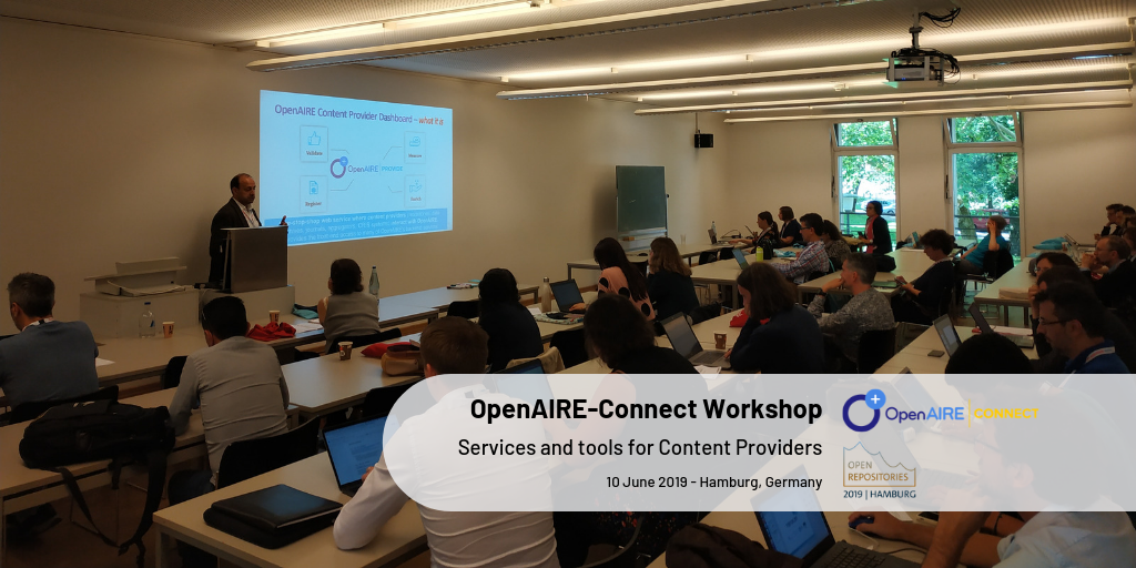 OpenAIRE-Connect Workshop - A user journey in OpenAIRE services through the lens of repository managers