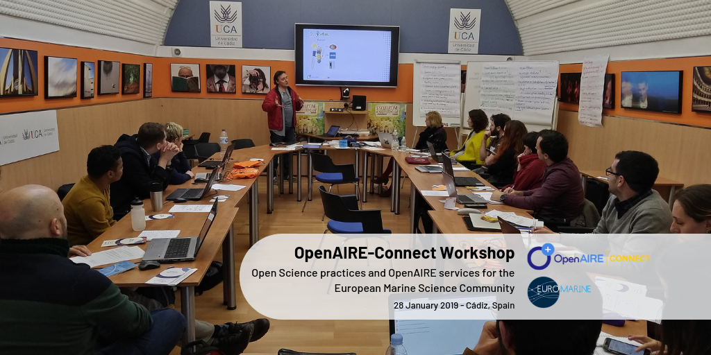 OpenAIRE Connect Workshop OYSTER2019 banner
