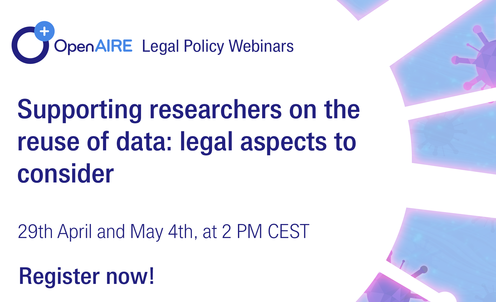 OpenAIRE Legal Policy Webinars