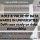 The role and value of data stewards in Universities: a TU Delft case study on data stewardship