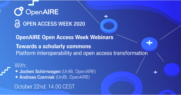 Open Access Week: Towards a scholarly commons
