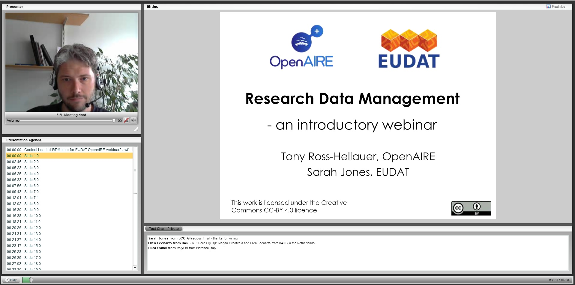 Research Data Management: An introductory Webinar from OpenAIRE and EUDAT