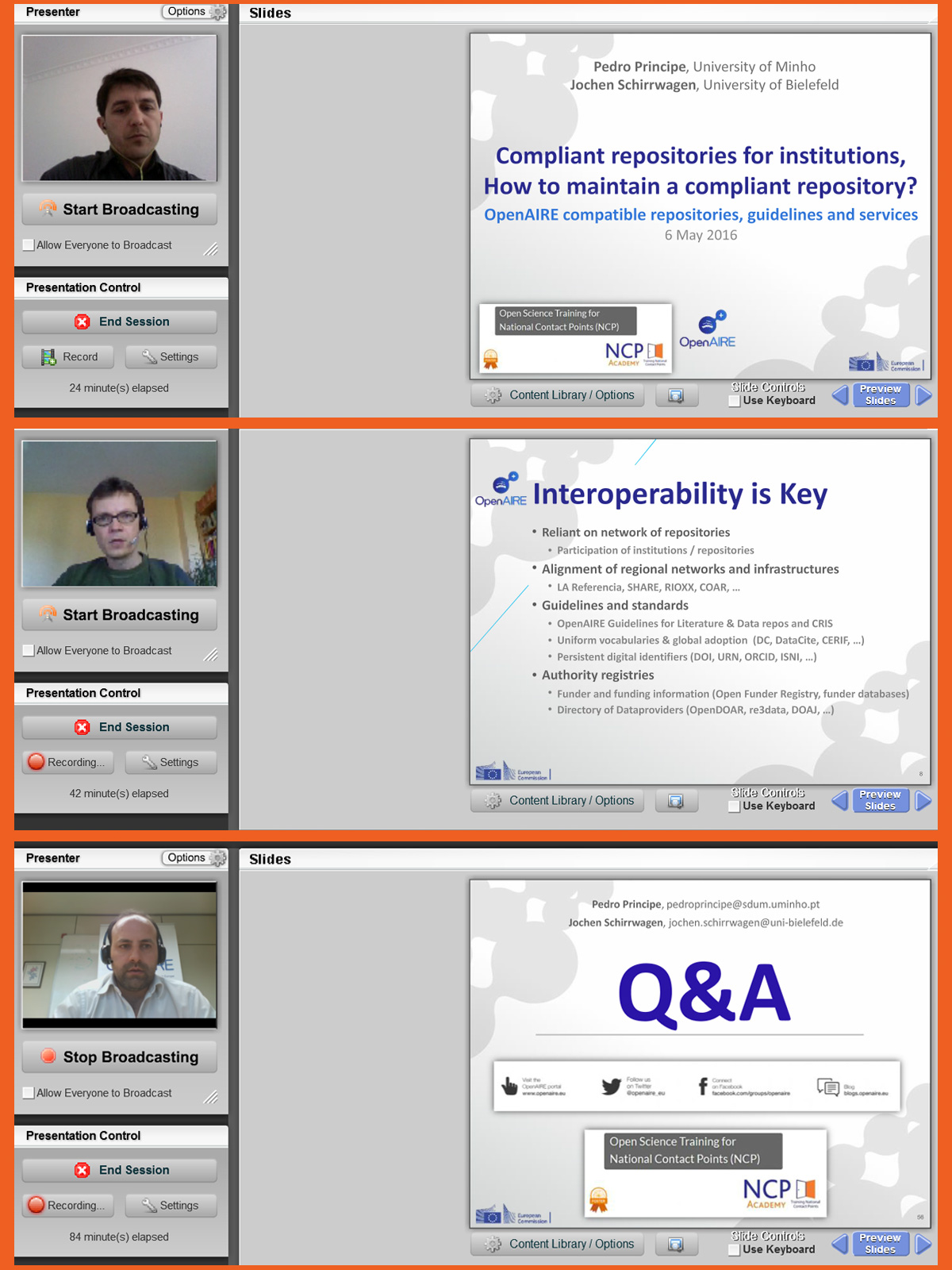 Webinar on OpenAIRE compatible repositories, guidelines and services