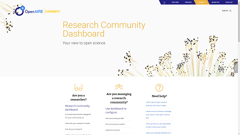 OpenAIRE Dashboard for Research Communities