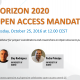 H2020 Open Access mandate for project coordinators and researchers