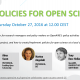 Policies for Open Science: webinar for research managers and policy makers