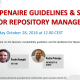 OpenAIRE guidelines and broker service for repository managers